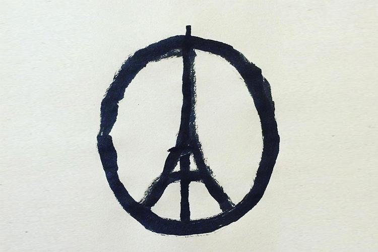 jean jullien peace for paris symbole
