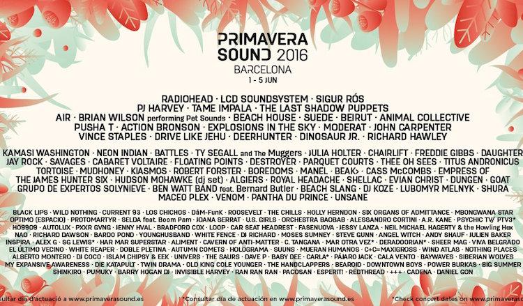 Primavera sound line-up