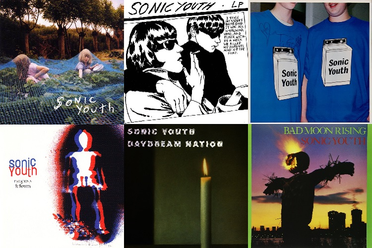 covers sonic youth's albums