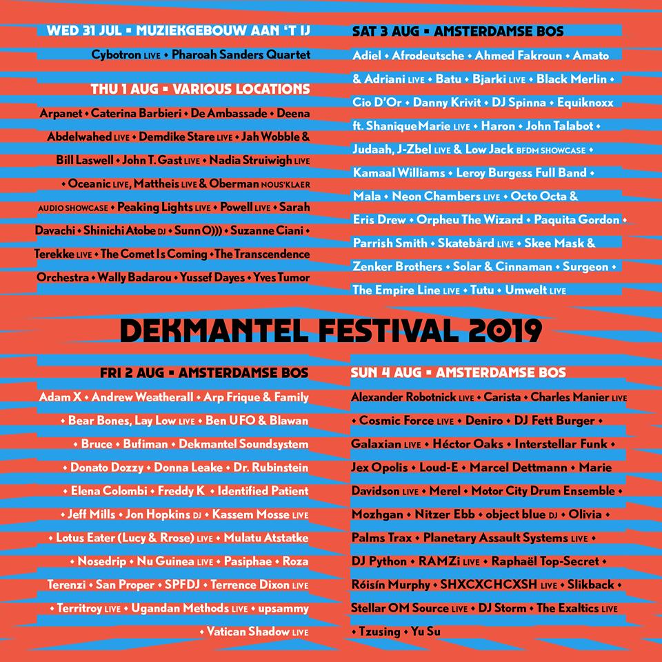 Dekmantel line-up